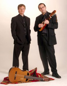 "The Alturas Duo, an award-winning ensemble, known for playing ""passionate music"" between the Baroque and South American folk rhythms."
