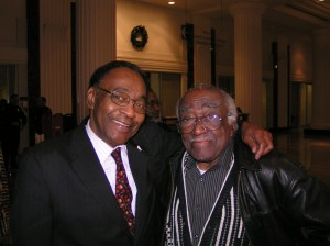 Hartford Photographer Riley Johnson and Kenneth Wright, a G. Fox & Company retiree.
