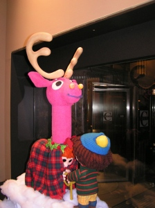 A reindeer that was part of G. Fox & Company's famed Christmas displays at the Mallett Gallery