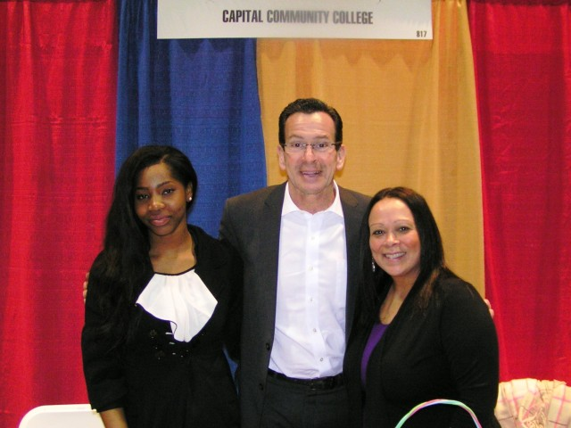 Governor Dannel P. Malloy stopped by Capital's booth after making remarks at the Latino Expo.