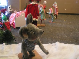 A holiday mouse and figures are back on Main Street in December at Capital Community College.