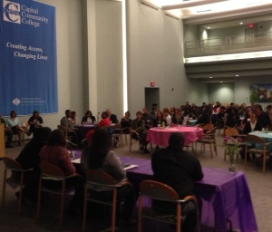 """Domestic violence was the topic at the 3rd annual """"One of Us, All of Us"""" Women's Conference April 21st at Centinel Hill Hall (A. Kurescka photo)"""