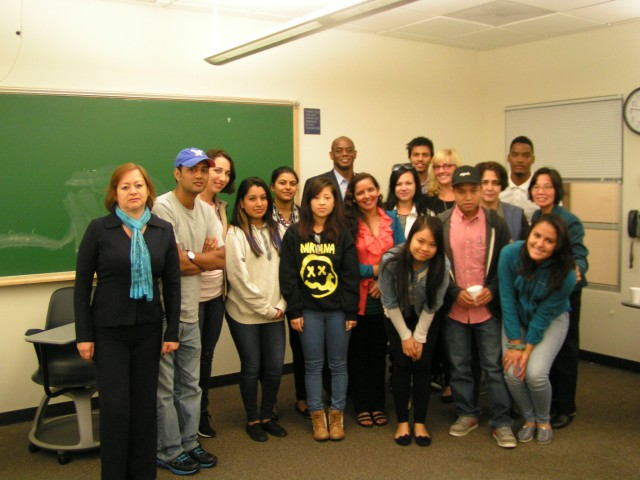 Advanced ESL Class at Capital with Rohan Freeman, President, Freeman Companies.