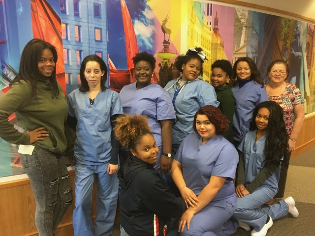 A new class of CNA students began the course the week of October 24th at Capital Community College.